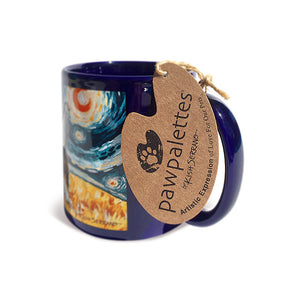Pitbull Gray Starry Night Mug