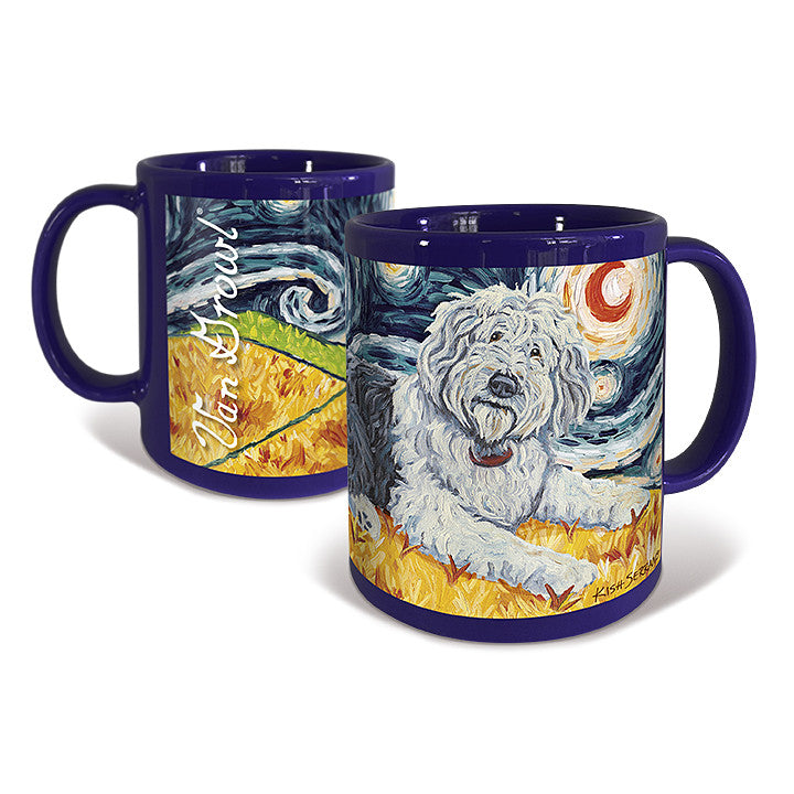 Old English Sheepdog Starry Night Mug