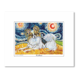 Papillon Starry Night Matted Print