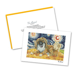 Pekingese Starry Night Notecard Set