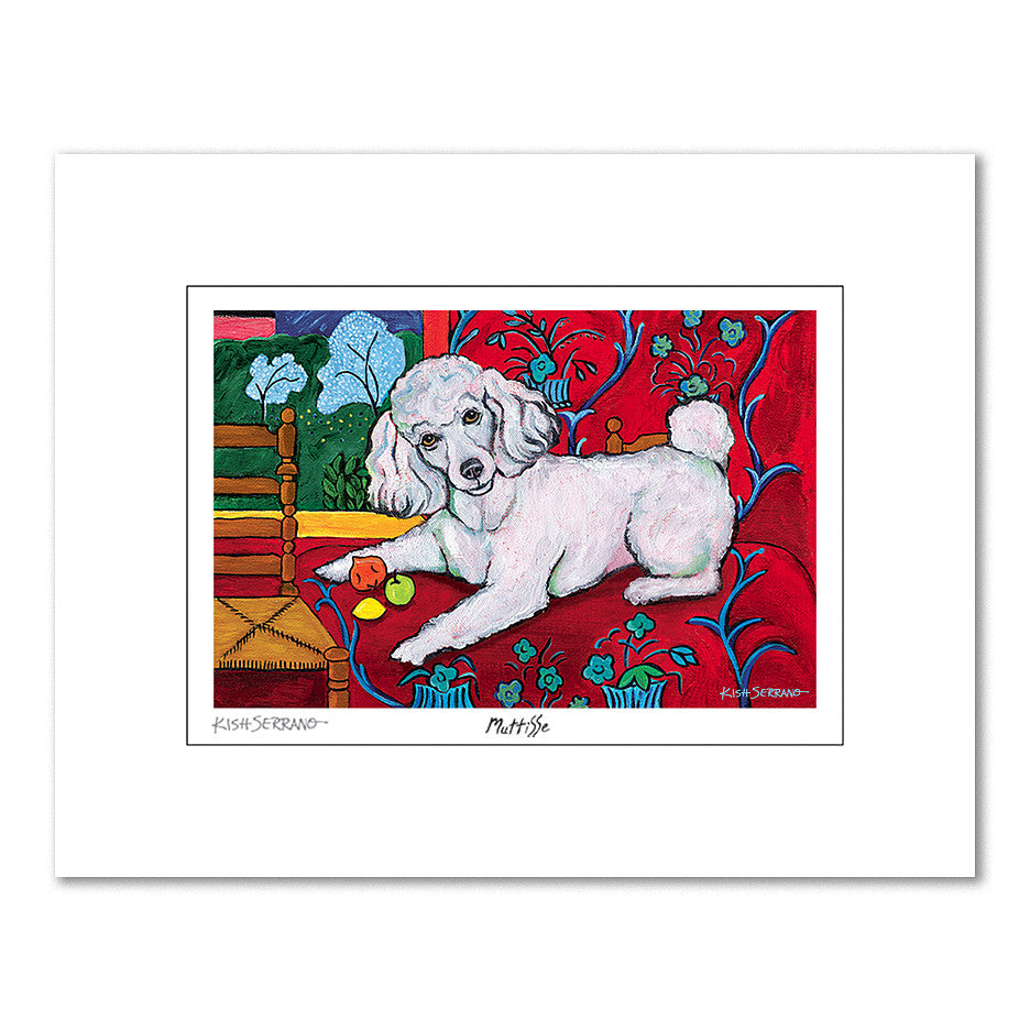 Poodle Muttisse Matted Print