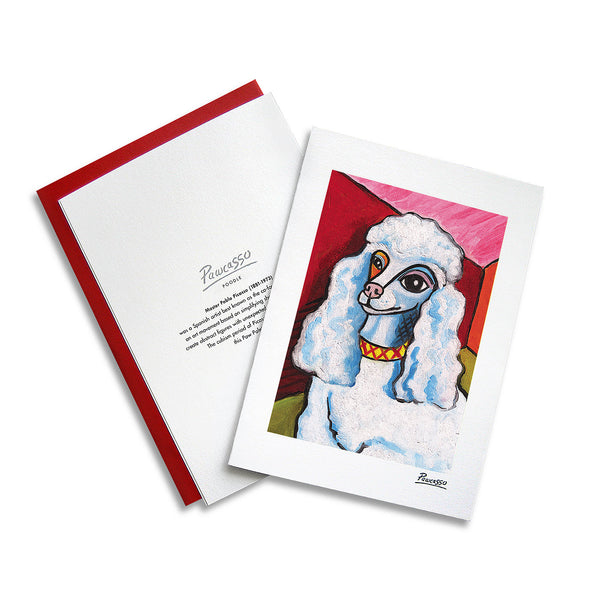 Poodle Pawcasso Notecard Set