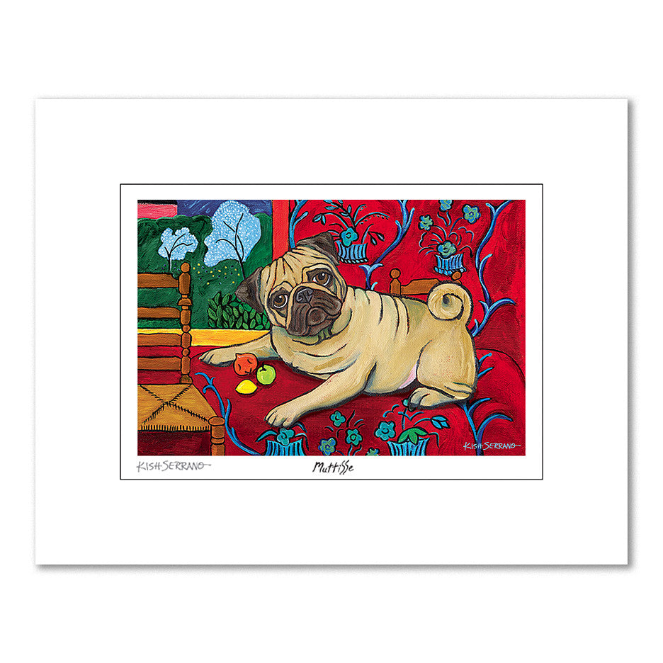 Pug Muttisse Matted Print