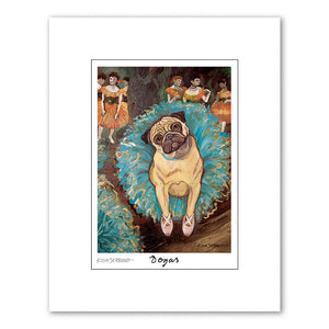 Pug Dogas Matted Print