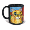 Orange Longhaired Tabby Cat Pawcasso Mug