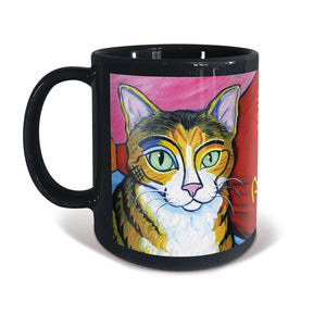 Shorthaired Tabby Cat Pawcasso Mug