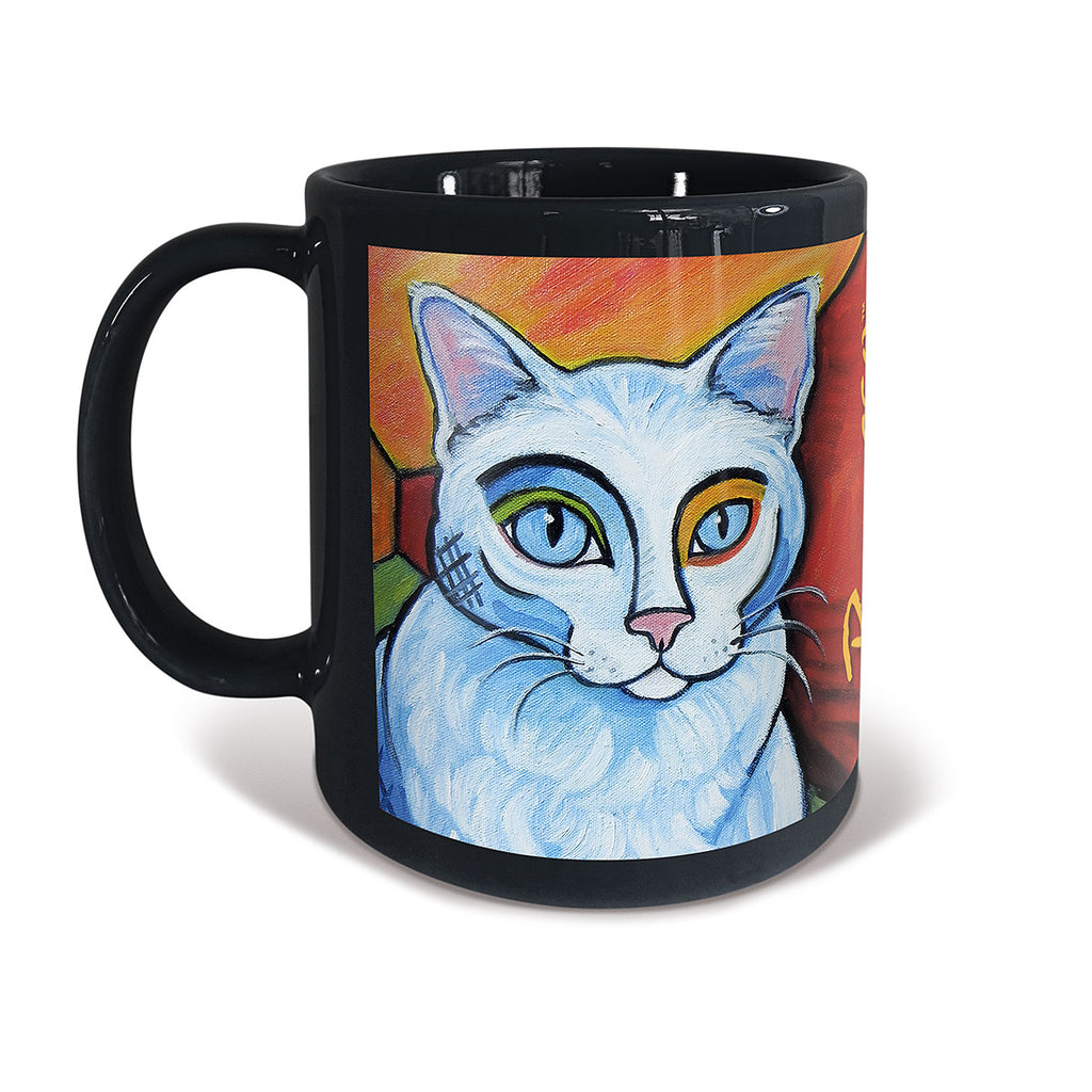 White Cat Pawcasso Mug