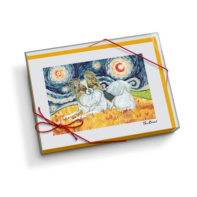 Papillon Starry Night Notecard Set