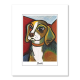 Beagle Pawcasso Matted Print