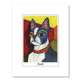 Boston Terrier Pawcasso Matted Print