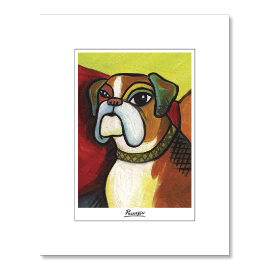 Boxer Pawcasso Matted Print