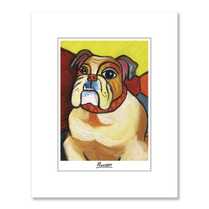 Bulldog Pawcasso Matted Print