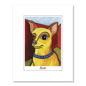 Chihuahua Pawcasso Matted Print