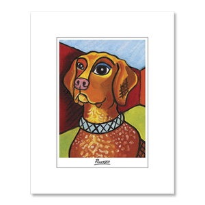 German Shorthair Pointer Pawcasso Matted Print