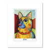 German Shepherd Pawcasso Matted Print