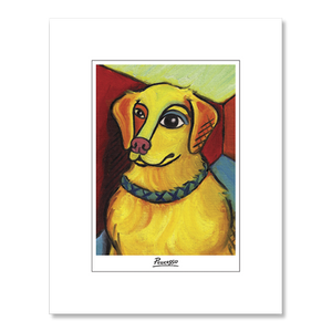 Golden Retriever Pawcasso Matted Print