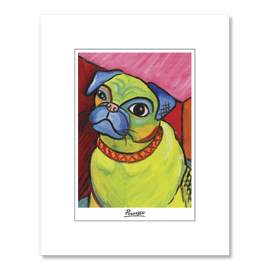 Pug Pawcasso Matted Print
