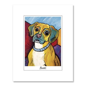 Puggle Pawcasso Matted Print
