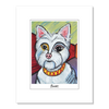 West Highland Terrier Pawcasso Matted Print