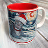 Pitbull Gray Holiday Starry Night Mug