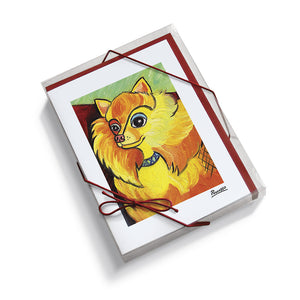 Pomeranian Pawcasso Notecard Set