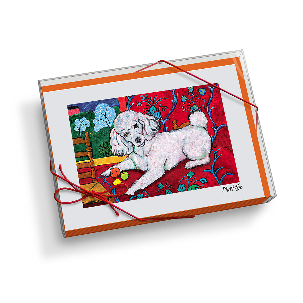 Poodle Muttisse Notecard Set