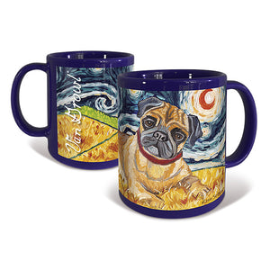 Pug Starry Night Mug