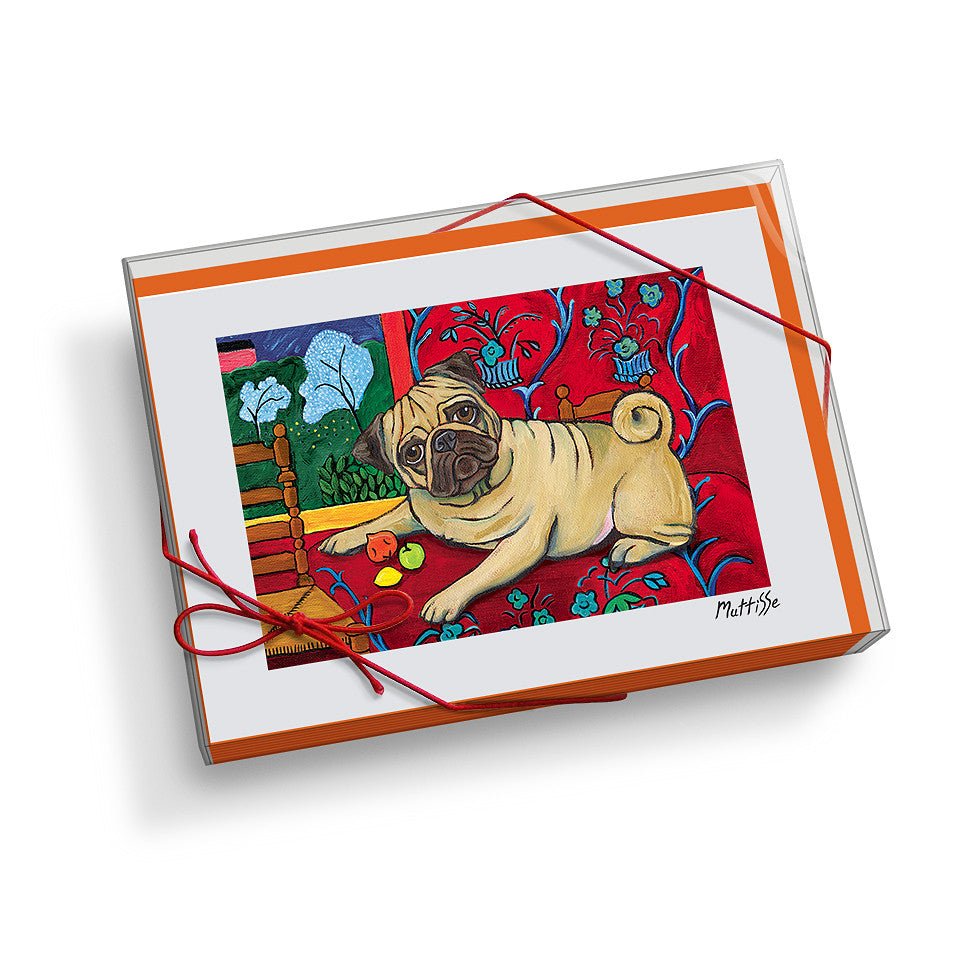 Pug Muttisse Notecard Set