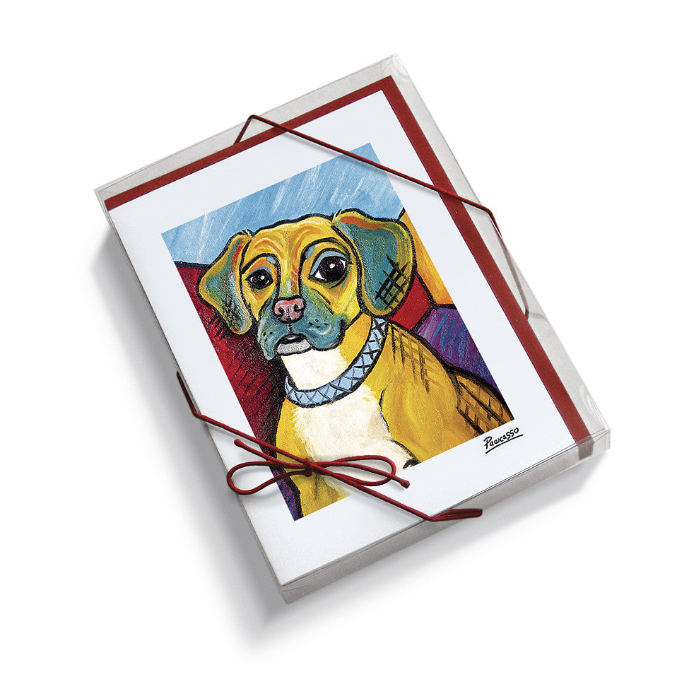 Puggle Pawcasso Notecard Set