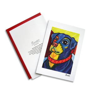 Rottweiler Pawcasso Notecard Set