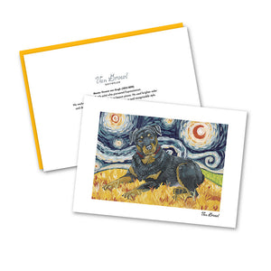 Rottweiler Starry Night Notecard Set