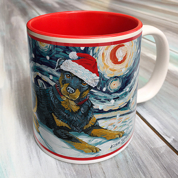 Rottweiler Holiday Starry Night Mug