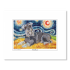 Schnauzer Starry Night Matted Print