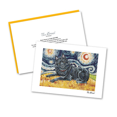 Schipperke Starry Night Notecard Set