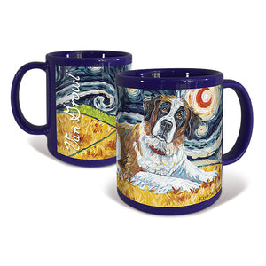 Saint Bernard Starry Night Mug