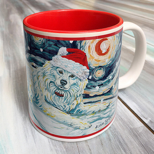 Samoyed Holiday Starry Night Mug
