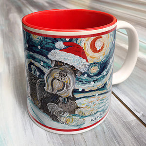 Schnauzer Holiday Starry Night Mug