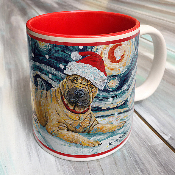 Shar Pei Holiday Starry Night Mug