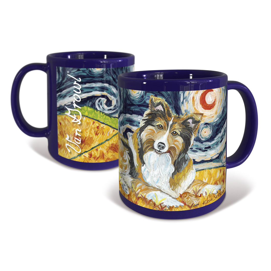 Shetland Sheepdog Starry Night Mug