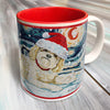 Shih Tzu Blonde Holiday Starry Night Mug