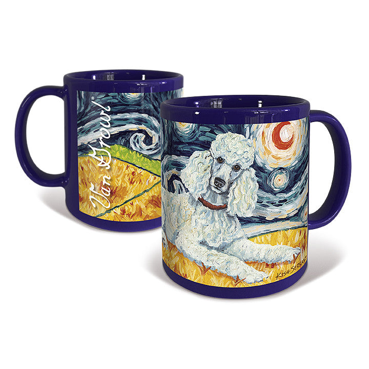 Poodle Standard White Starry Night Mug