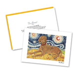 Vizsla Starry Night Notecard Set