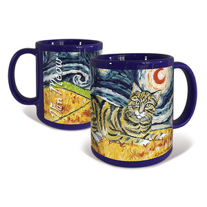 Tabby Shorthaired Cat Starry Night Mug