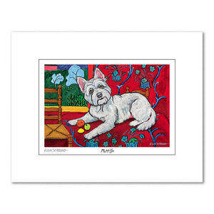 West Highland Terrier Muttisse Matted Print