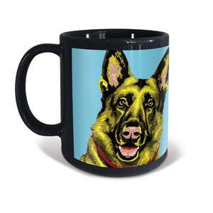 German Shepherd Woofhol Mug