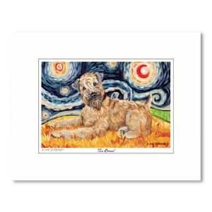 Wheaten Terrier Starry Night Matted Print