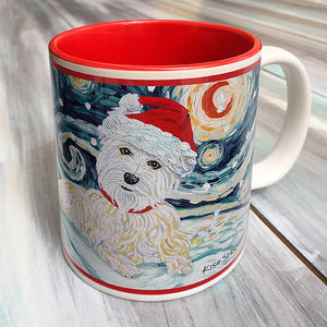 West Highland Terrier Holiday Starry Night Mug