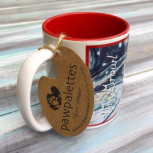 Cavalier King Charles Blenheim Holiday Starry Night Mug