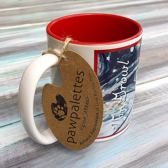 Siberian Husky Holiday Starry Night Mug
