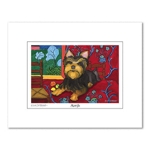 Yorkshire Terrier Muttisse Matted Print